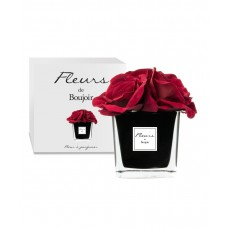 Bouquet Rose Rosse Vaso Nero